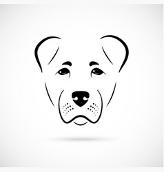 muzzle alabai dog on white background dog icon vector image