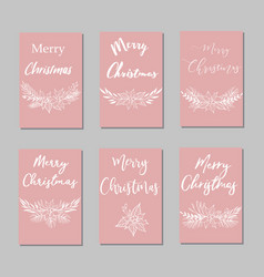 new year and merry christmas decoration sett vector image