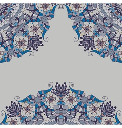 Ornamental abstract pattern in corners vector