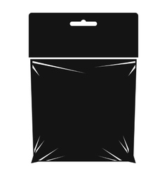 Package icon simple style vector