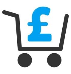 Pound Checkout Flat Icon Symbol vector