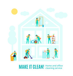 Professional cleaning advertising vector