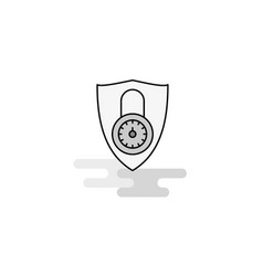 protected web icon flat line filled gray icon vector image