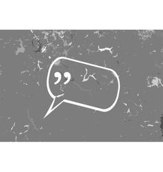 Quote blank template Quote bubble Print design vector