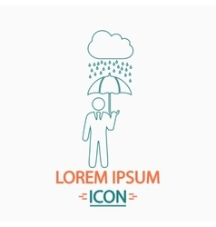 Rainy computer symbol vector