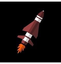 Rocket flat sign vector image