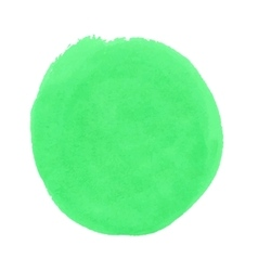 Round green stain smear watercolor paint vector