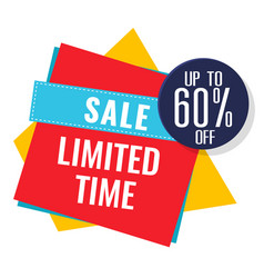 sale limited time up to 60 off image vector image