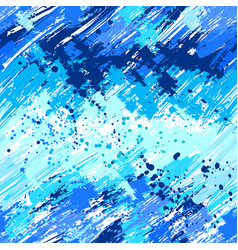 Seamless painted blue paint vector