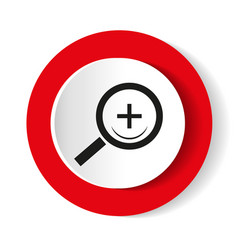 Search red web icon round icon vector