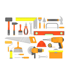 set building tools and vector image