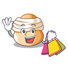 shopping semla sweet cream easter buns character vector image