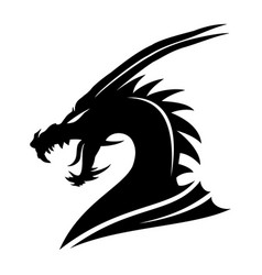 sign of a black dragon vector image