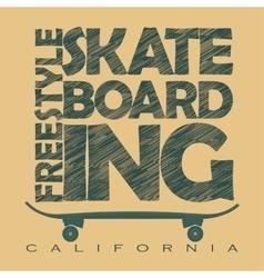Skateboarding t-shirt graphics vector