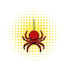Spider icon in comics style vector