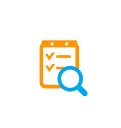 survey report icon on white vector image