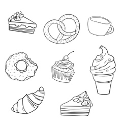 Sweetness black and white vector