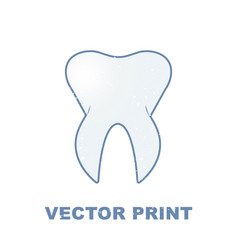 t-shirt print with the tooth for a dental clinic vector image