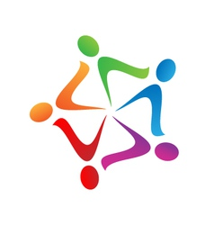 Teamwork swoosh logo vector image