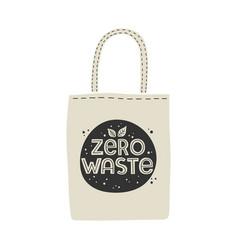 textile eco-friendly reusable shopping bag with vector image