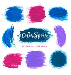 textures of paint color spots vector image