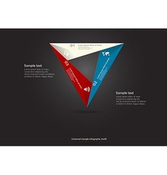 triangle motif infographic placed on black vector image