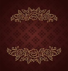 vintage design for greeting card vector image
