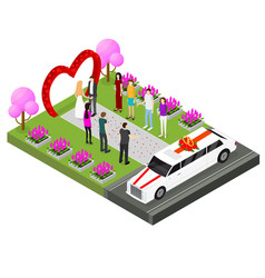 wedding ceremony place isometric view vector image