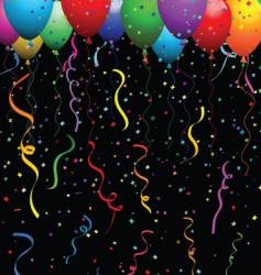 confetti and balloons vector image