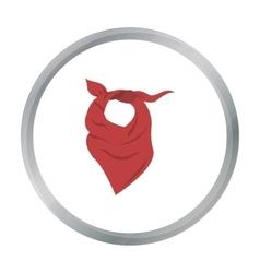 Cowboy scarf icon cartoon Singe western icon from vector image vector image