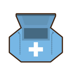 first aid kit healthcare medical vector image