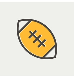 Football ball thin line icon vector image vector image
