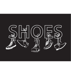 image with text and shoes vector image