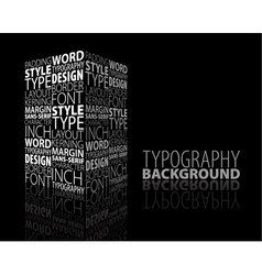 typography building vector image