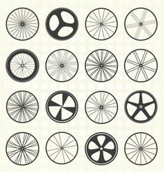 Bike Wheel Collection vector image vector image