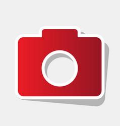 digital camera sign new year reddish icon vector image vector image