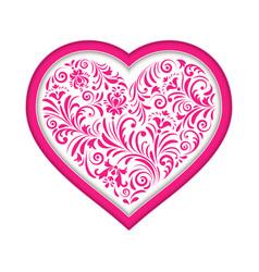 floral valentine heart vector image