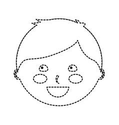 Happy boy kid child icon image vector