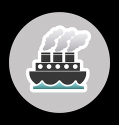 marine transport vector image