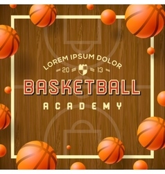Basketball academy flyer or poster vector image vector image