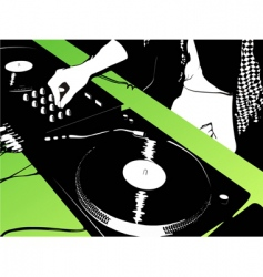 DJ music background vector image