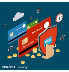 Financial security isometric concept vector image