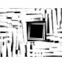 grunge window vector image vector image