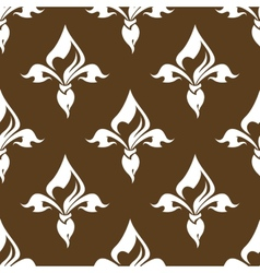 Seamless floral brown pattern vector image