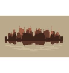 Urban silhouette vector image