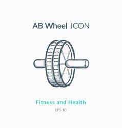 ab wheel icon on white background vector image