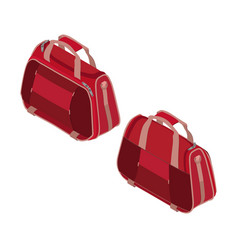handbag woman isometric bag purse isolated icon vector image vector image