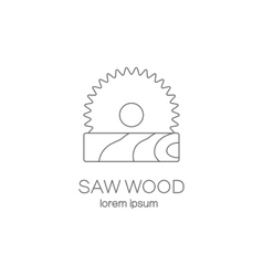 Saw wood logotype design templates vector image