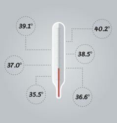 thermometer icon body temperature vector image vector image