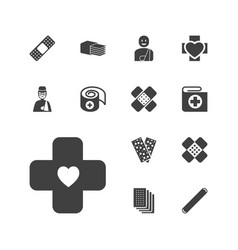 13 bandage icons vector